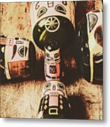 Faded Old Toys From A Vintage Past Metal Print
