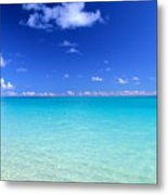Fades To Turquoise Metal Print