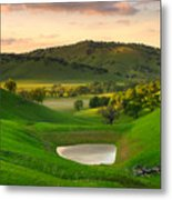 Fading Light At Round Valley Metal Print