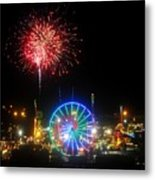 Fair Fireworks Metal Print