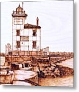 Fair Port Harbor Metal Print