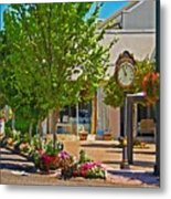 Fairhope Ave With Clock Looking North Up Section Street Metal Print