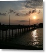 Fairhope Pier At Dusk Metal Print