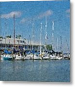 Fairhope Yacht Club Impression Metal Print