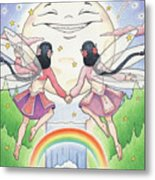 Fairies In Moonlight Metal Print