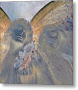 Fairies With White Flowers Metal Print