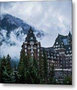 Fairmont Springs Hotel In Banff, Canada Metal Print