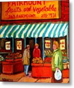 Fairmount Fruit And Vegetables Metal Print