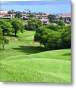Fairway At Dunes Of Maui Lani  Metal Print