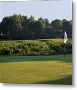Fairway Hills - 3rd - A Bridge And Marsh To This Par 3 Metal Print