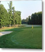 Fairway Hills - 4th - A Straight-in Par 4 Metal Print