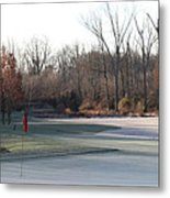 Fairway Hills - 7th - Beware Of The Tree And The Pond Panorama Metal Print