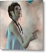Fairy And Butterfly Metal Print