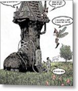 Fairy Comic Illustration 1 Metal Print