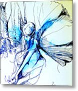 Fairy Doodles Metal Print