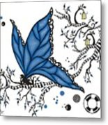 Fairy Fly Metal Print