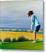 Fairy Golf Mother Metal Print