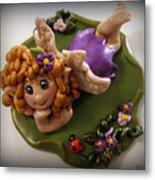 Fairy In Purple Metal Print by Trina Prenzi