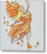 Fall Fairy Metal Print