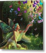 Fairy Of The Butterflies Metal Print