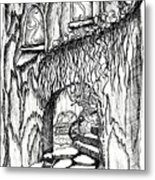Fairy On Stairs Tree Fairy Home Metal Print