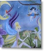 Fairy Play Metal Print