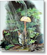 Fairy Shower Metal Print