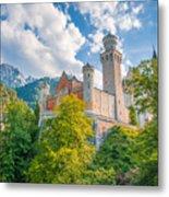 Fairytales From Neuschwanstein Castle Metal Print