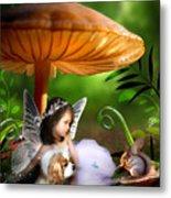 Fairy Woodland Metal Print by Julie L Hoddinott