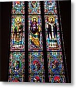 Faith In Stained Glass  Metal Print