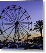 Fajitaville Ferris Wheel 2 Metal Print
