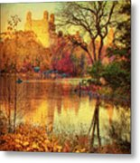 Fall Afternoon In Central Park Metal Print