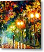 Fall Alley Metal Print