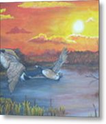 Fall And Flight Metal Print