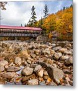 Fall At Albany Covered Bridge Metal Print