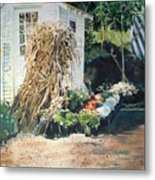 Fall At Ivy Corners Metal Print by Elizabeth Carr