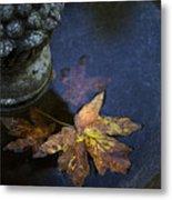 Fall At The Fountain Metal Print