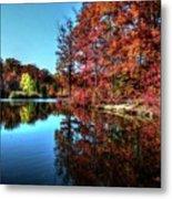 Fall At The Crosspointe Lake Metal Print