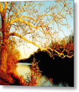 Fall At The Raritan River In New Jersey Metal Print