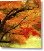 Fall At The Temple Metal Print