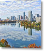Fall Austin Skyline Metal Print