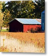 Fall Bin Metal Print by Jame Hayes