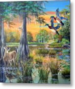 Fall Bounty- Big Cypress Swamp  Metal Print