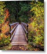 Fall Bridge Metal Print