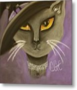 Fall Cat Metal Print