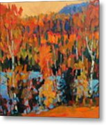 Fall Coast Metal Print