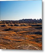 Fall Color In The Badlands Metal Print