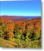 Fall Color On The Fulton Chain Of Lakes Metal Print