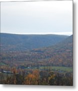 Fall Colors In Nippenose Valley Metal Print