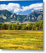Fall Colors Of Boulder Colorado Metal Print
